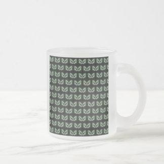 Alien Cat. Fantasy Art Pattern. Green Black. Mug