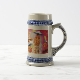 alien cats and the ufos beer steins