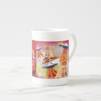alien cats and the ufos bone china mug