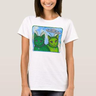 Alien Cats UFO Space Fantasy Cat Art Shirt