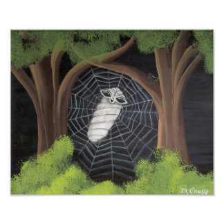 Alien Caught in a Spiders Web Poster
