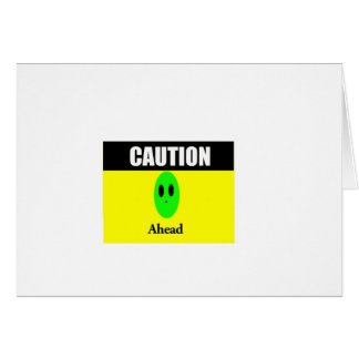 Alien Caution Greeting Card