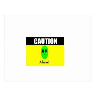 Alien Caution Postcard
