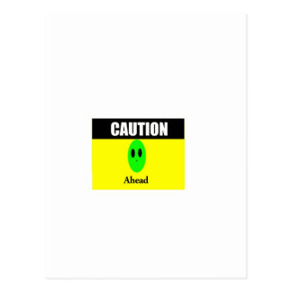 Alien Caution Postcard