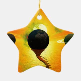 Alien Ceramic Star Decoration