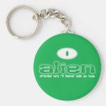 Alien Christian keychain/keyring