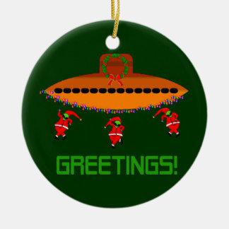Alien Christmas Christmas Ornament