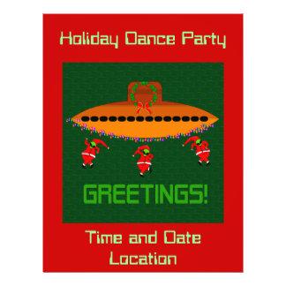 Alien Christmas Flyer Design