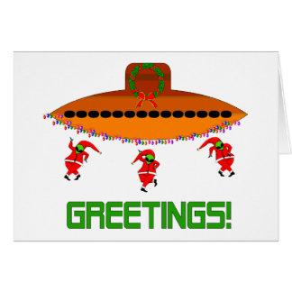 Alien Christmas Greeting Card