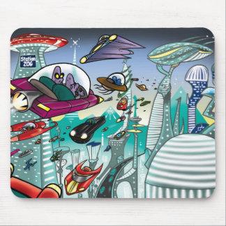 Alien Cityscape Mouse Mat