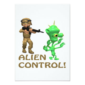 Alien Control 13 Cm X 18 Cm Invitation Card