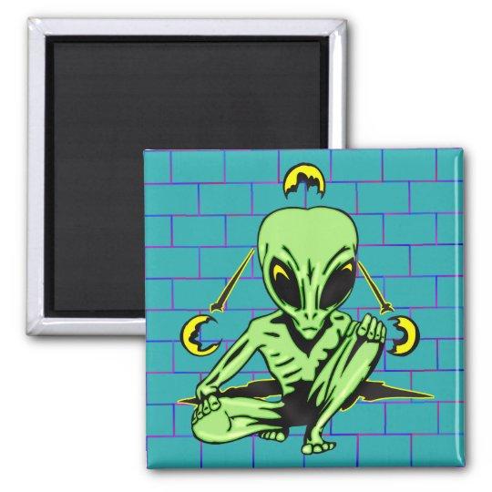 Alien Coverup Square Magnet