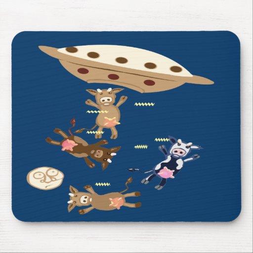 Alien cow abductions mousemat