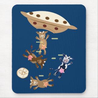 Alien cow abductions mouse pad