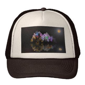 Alien Crystal Mountain and Lake Cap