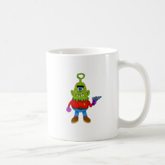 Alien Cyclops Beasty Basic White Mug