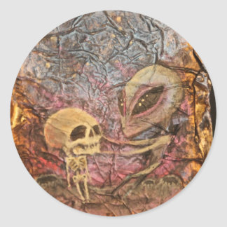 Alien Danse Macabre Round Sticker