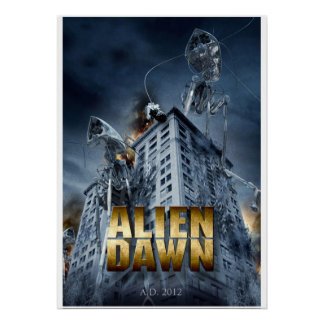 Alien Dawn- based on H.G. Wells' War of the Worlds Poster