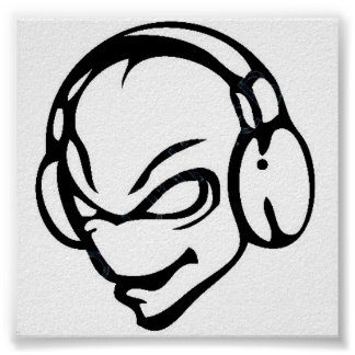 alien dj poster