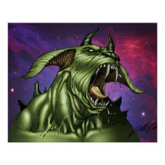 Alien Dog Monster Warrior by Al Rio