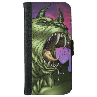 Alien Dog Monster Warrior by Al Rio iPhone 6 Wallet Case