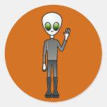 Alien Dude Classic Round Sticker