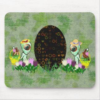 Alien Easter Egg Hunt Mouse Pads