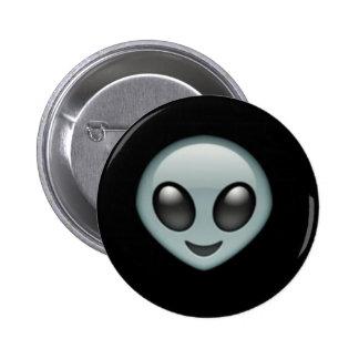 Alien Emoji Button 2 Inch Round Button