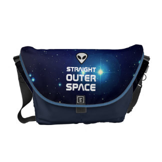 Alien Emoji with Outer Space Sci Fi Scene Courier Bag