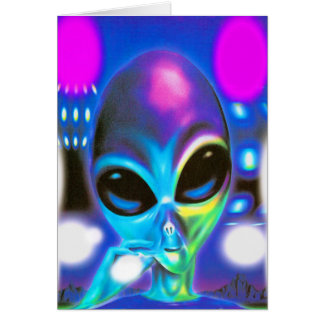 Alien Encounter Greeting Cards