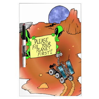 Alien Eviction Dry Erase Board