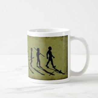 Alien evolution coffee mug