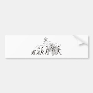 Alien Evolution.jpg Bumper Sticker