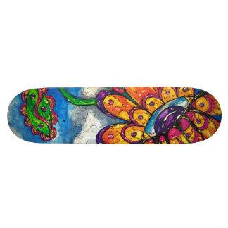 Alien Eye Flower Skateboard