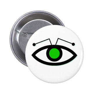 Alien Eye Round Button