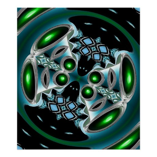 Alien Eyes - Art Poster2 - Modern Neon Poster
