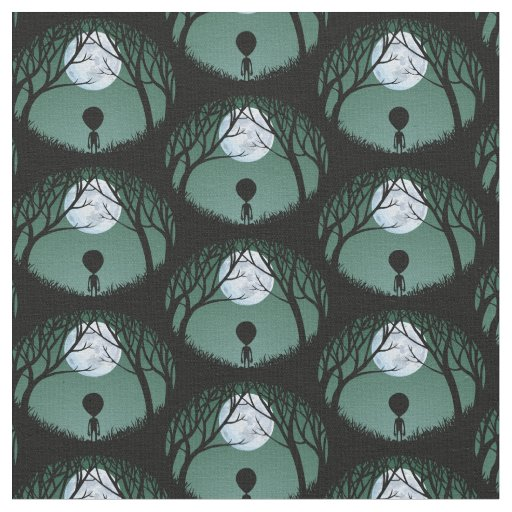 Alien Fabric Cute Alein Fabric Custom E.T. Fabric