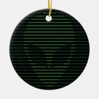 Alien face christmas ornament