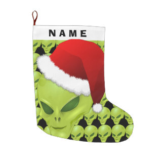 Alien Face Christmas Stocking