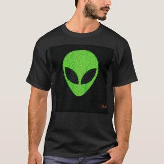 Alien Face- green tshirt