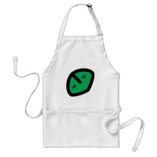 Alien Face on Green Adult Apron