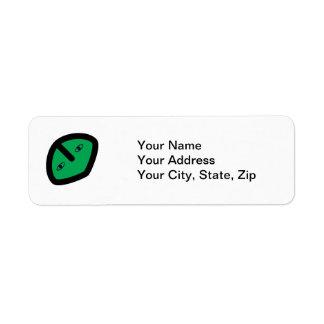 Alien Face on Green Return Address Label
