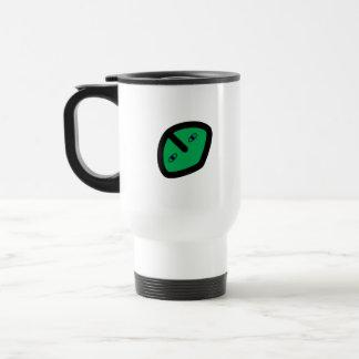 Alien Face on Green Travel Mug