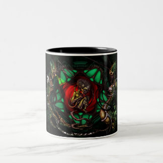 Alien Family Picture Two-Tone Coffee Mug