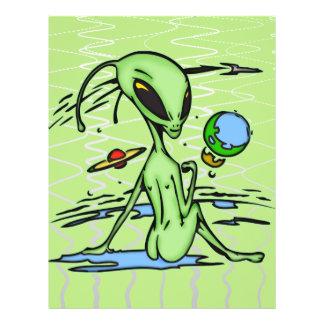 Alien Female 21.5 Cm X 28 Cm Flyer