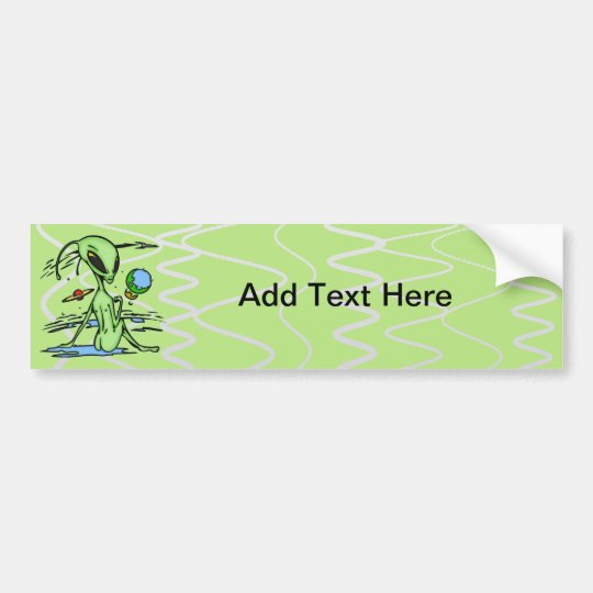 Alien Female Bumper Sticker