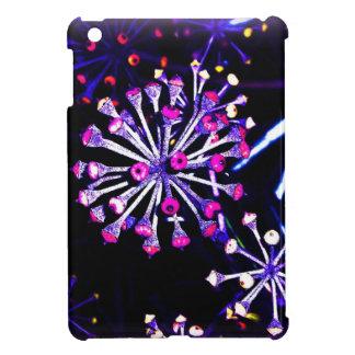 alien flowers black & purple glossy iPad minicase Case For The iPad Mini