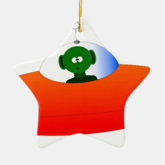 Alien Flying Saucer Ceramic Star Decoration