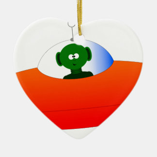Alien Flying Saucer Christmas Ornament