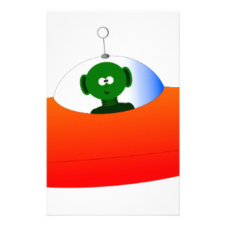 Alien Flying Saucer Stationery